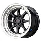 Drag Wheels DR-16 15x8.25 Svart(blank)